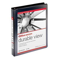 Office Depot® Brand Durable View Slant-Ring Binder, 1