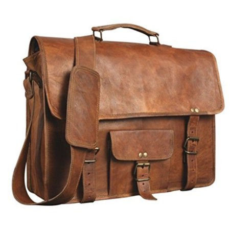 Real Irish Leather - skh leather 18 genuine men's auth real leather messenger laptop briefcase satchel mens bag