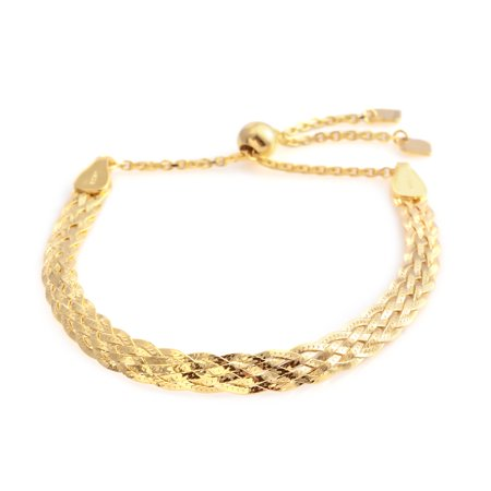 Gold Plated 925 Sterling Silver Bracelet for Women Gift Jewelry Adjustable