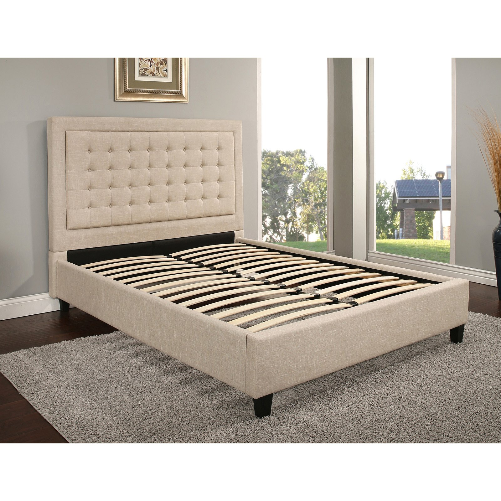 Abbyson Manning Tufted Upholstered Platform Bed