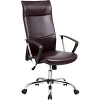 Techni High Back Executive Chair with Arms and Chrome Base (Black)