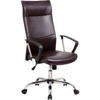 Techni High Back Executive Chair with Arms and Chrome Base (Black)