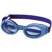 100346 Doggles, ILS Extra, Small, Shiny Blue Frame, Blue Lens