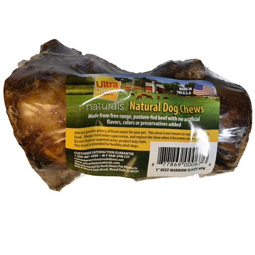 "Ultra Chewy 1"" Beef Marrow Slices, 4pk"