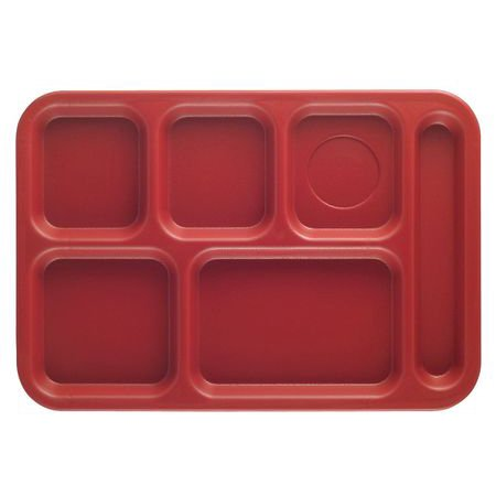 CAMBRO EAPS1014416 Tray,w/ Compartments,10x14,Cranberry