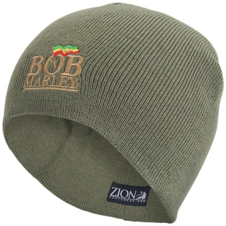 Bob Marley - Olive Logo Knit Beanie