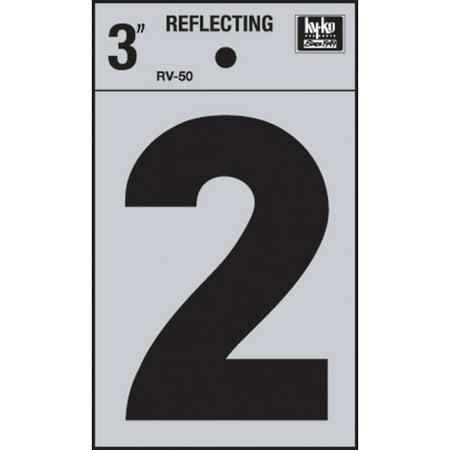 "3"" Reflective Vinyl Number 2"