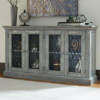 Signature Design by Ashley Mirimyn 4 Glass Door Accent Cabinet