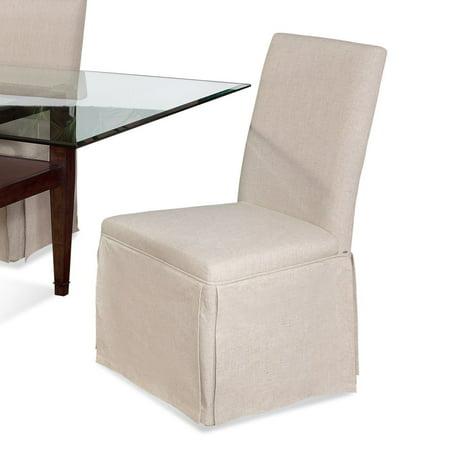 Swell Bassett Edison Skirted Parsons Chair In Natural Linen Pdpeps Interior Chair Design Pdpepsorg