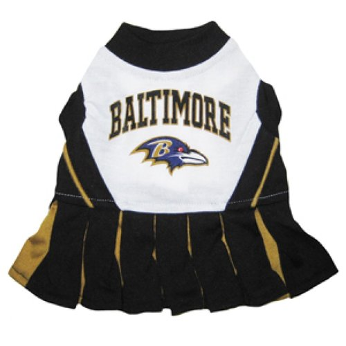 Pets First NFL Baltimore Ravens Cheerleader Dress, Small
