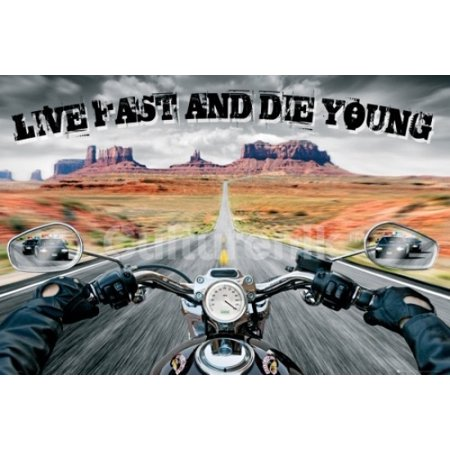 Live Fast Die Young Poster Poster Print ()