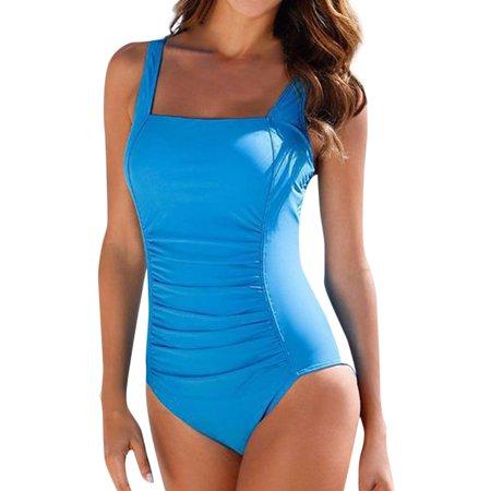 Mosunx Women One Piece Push Up Padded Bikini Swimsuit Swimwear Bathing Suit  Monoki