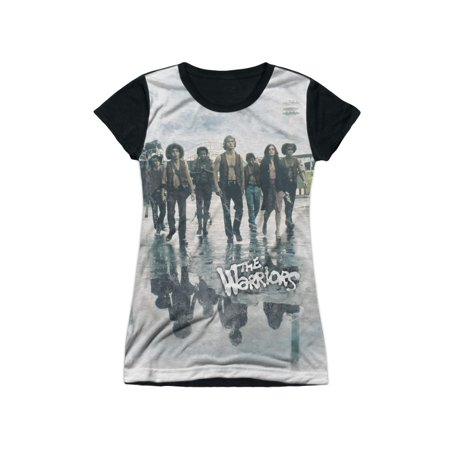 The Warriors New York Gang Film Strolling Juniors Black Back T-Shirt Tee - Warriors Baseball Gang