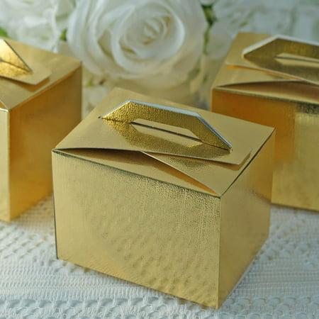 Efavormart 100pcs Tote Favor Boxes Party Goodie Boxes Treat Box For Wedding Reception/Bridal Shower/ Banquet Event