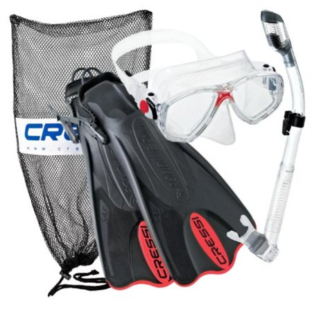 Cressi Palau Mask Fin Snorkel Set with Snorkeling Gear Bag, RD-LXL