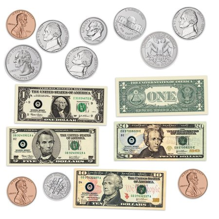 Learning Resources Double-Sided Magnetic Money Set, Play Money for Kids, Ages 5+, LER5080
