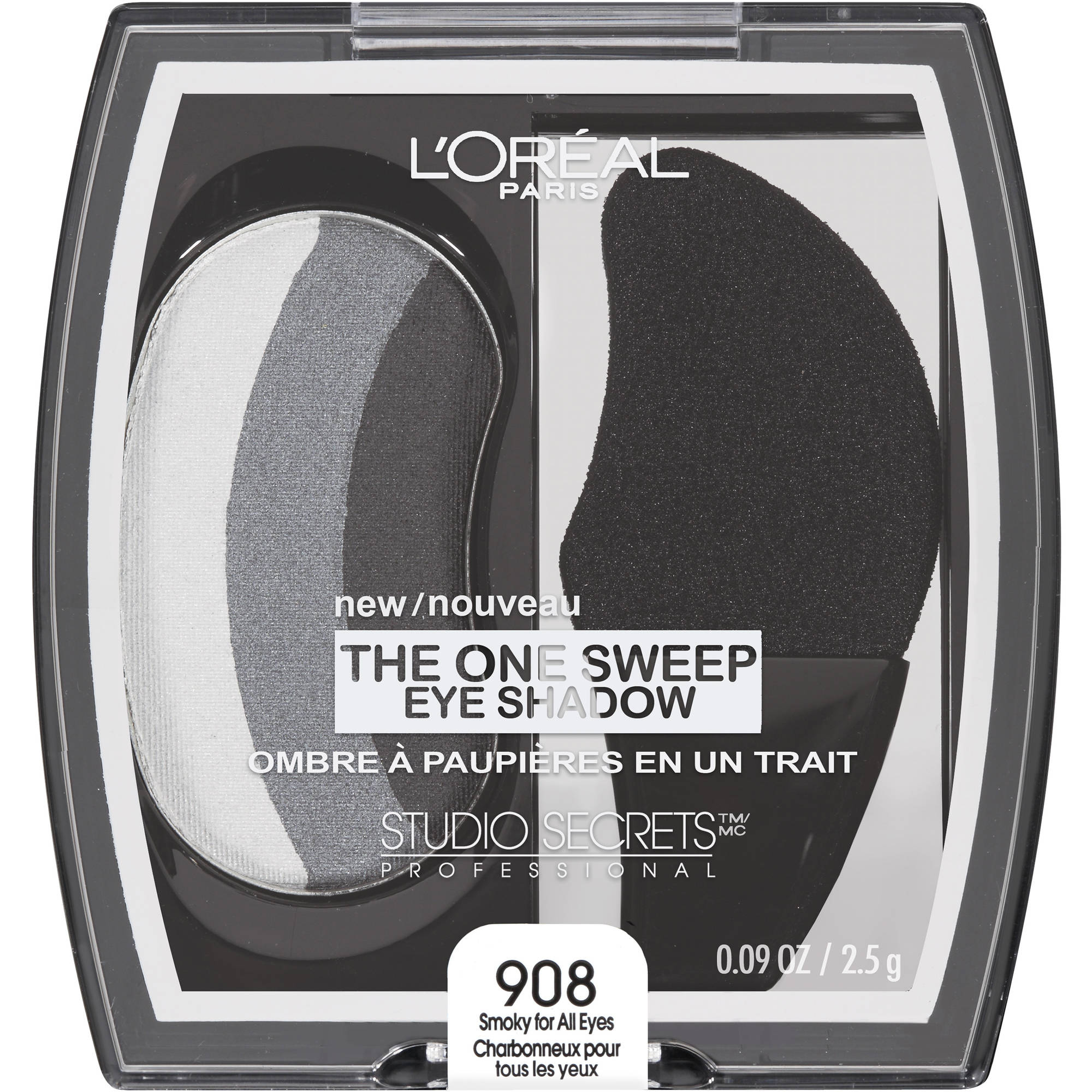 L'Oreal Paris Studio Secrets Professional One Sweep Eye Shadow, 908 Smoky For All Eyes