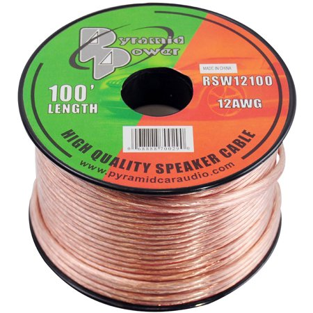 PYRAMID RSW12100 - 12 Gauge 100 ft. Spool of High Quality Speaker Zip
