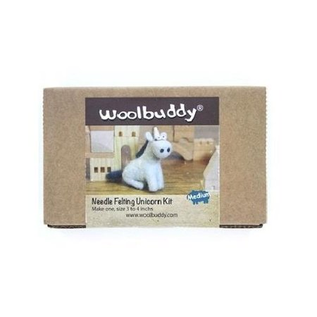 Woolbuddy Unicorn Wool Felting Needle Point Kit Crafting Gift