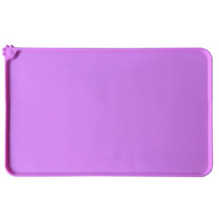 Pets Non-slip Feeding Mat Dogs Cats Silicone Cushion Waterproof Non-Toxic Bowl Tray Pad ()