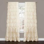 Ruffle Ivory Window Curtain
