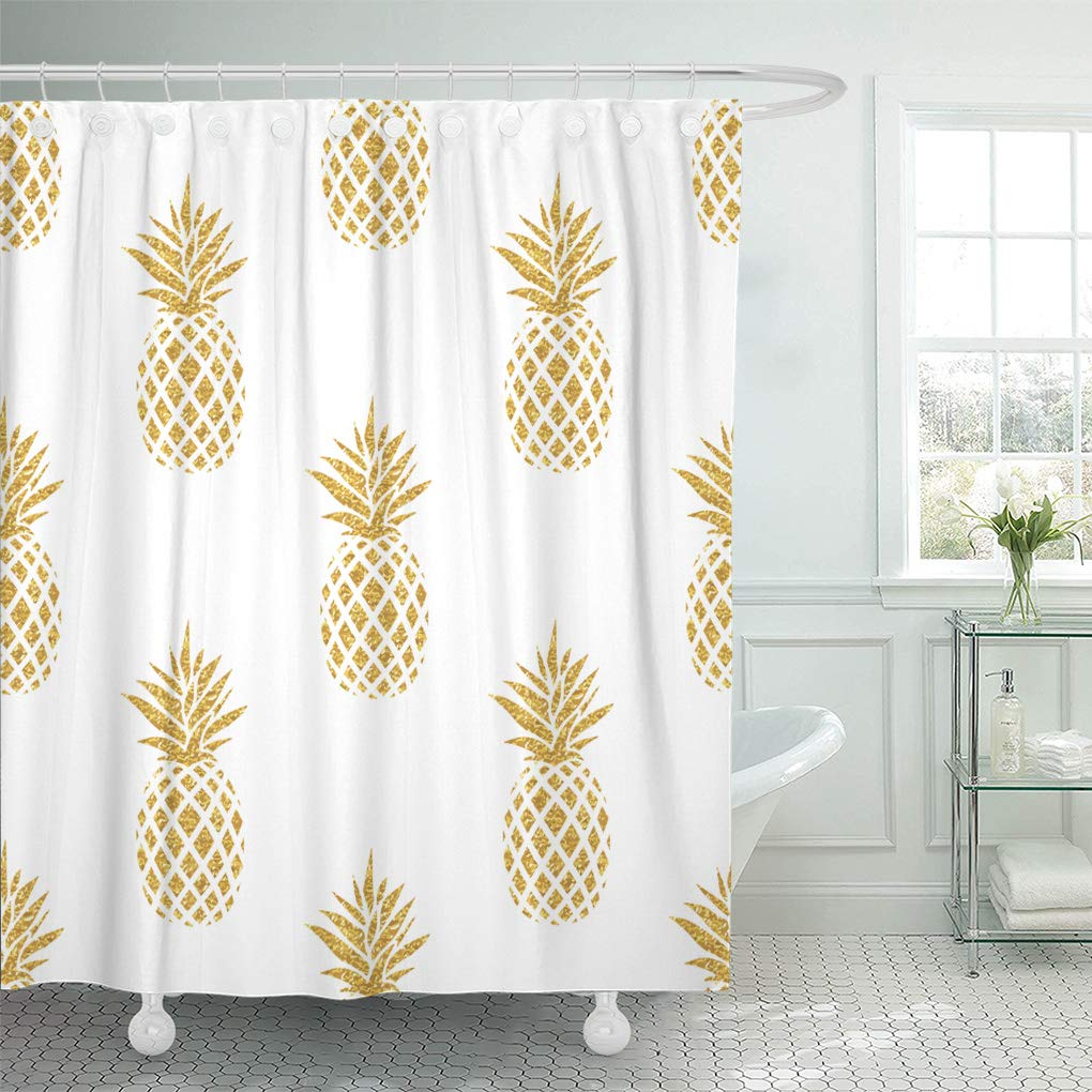CYNLON Pattern Summer Gold Pineapple On Colored In Fruit