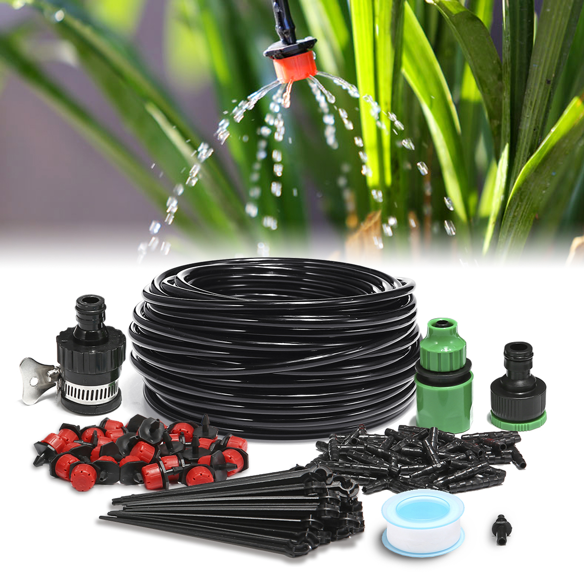 25m Micro Irrigation kit Drip Watering System Automatic Garden Water Kit