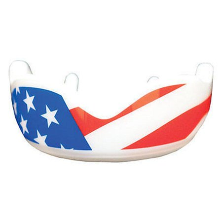 Fightdentist Boil & Mold Mouth Guard - USA red white and blue