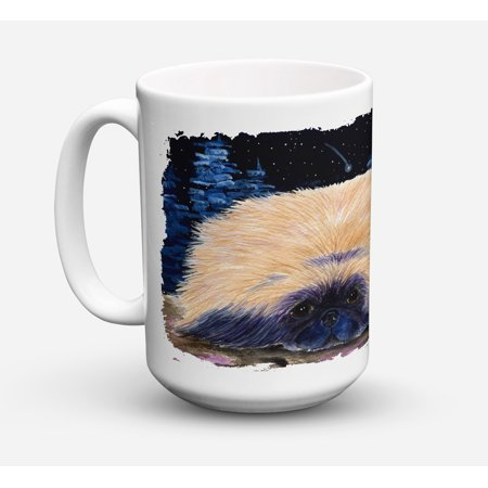 Starry Night Pekingese Dishwasher Safe Microwavable Ceramic Coffee Mug 15 ounce SS8439CM15