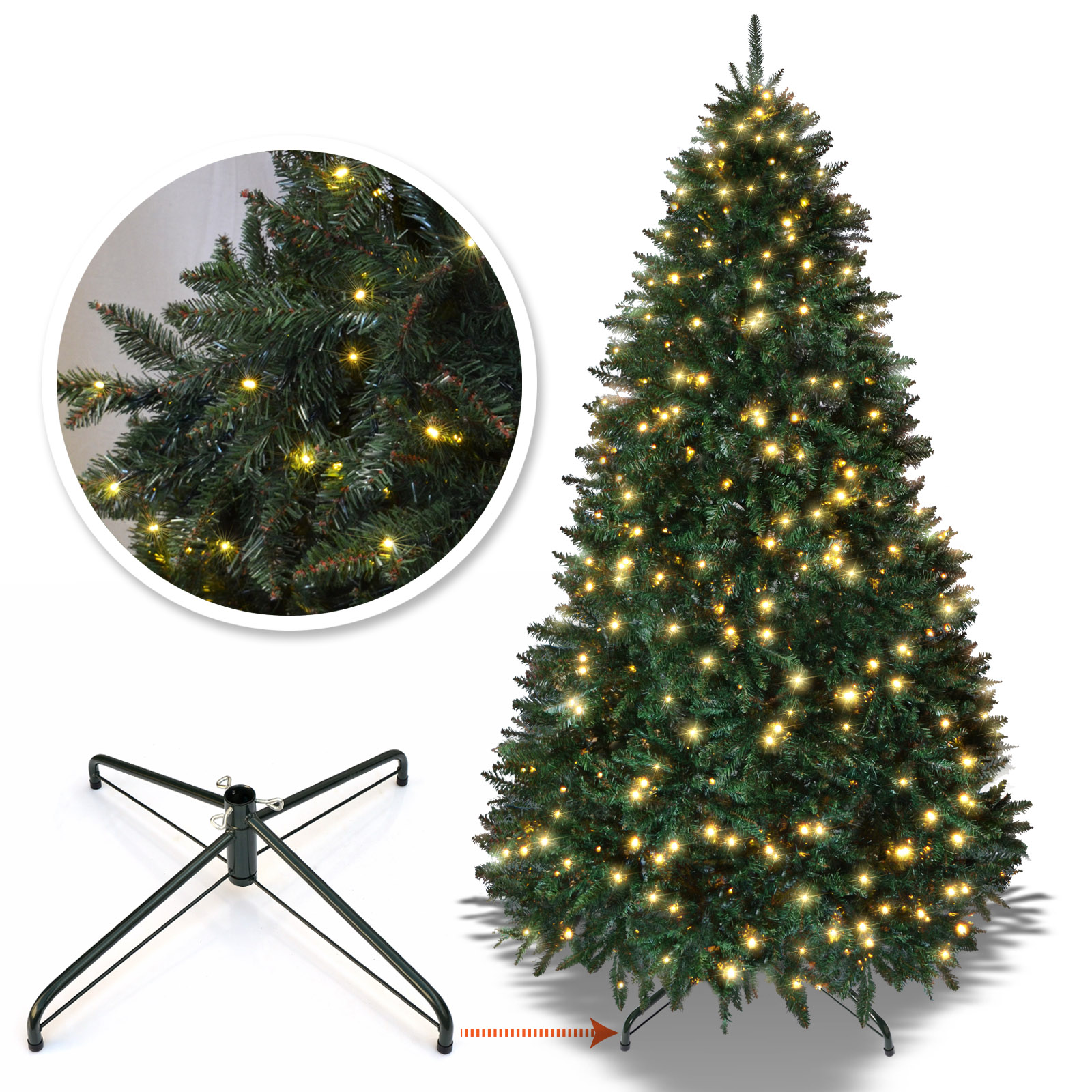Strong Camel 6.5 /7 /7.5 ft Artificial Christmas Tree with ...