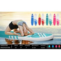 Inflatable Stand Up Paddle Board, 10' Inflatable Paddle Board for Youth/Adult, Paddle Boat SUP Accessories With Pulp, Pump, Repair Kit, Surf Control, Non-Slip Deck, Green, W2889