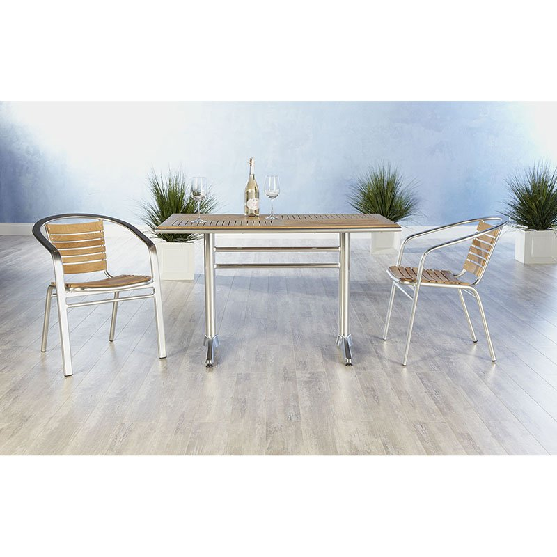 Euro Style Sherwood 7 Piece Dining Set with Shirley Stackable Chairs