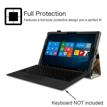 Microsoft Surface Pro 4 Case - Etui Fintie Folio avec support de stylet pour tablette Surface Pro 4 12,3 pouces, Love Tree - image 3 de 7