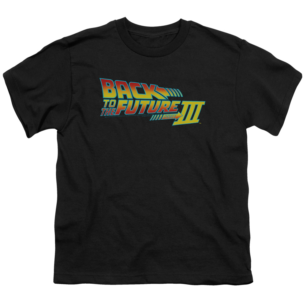Back To The Future Iii Logo Big Boys Youth Shirt