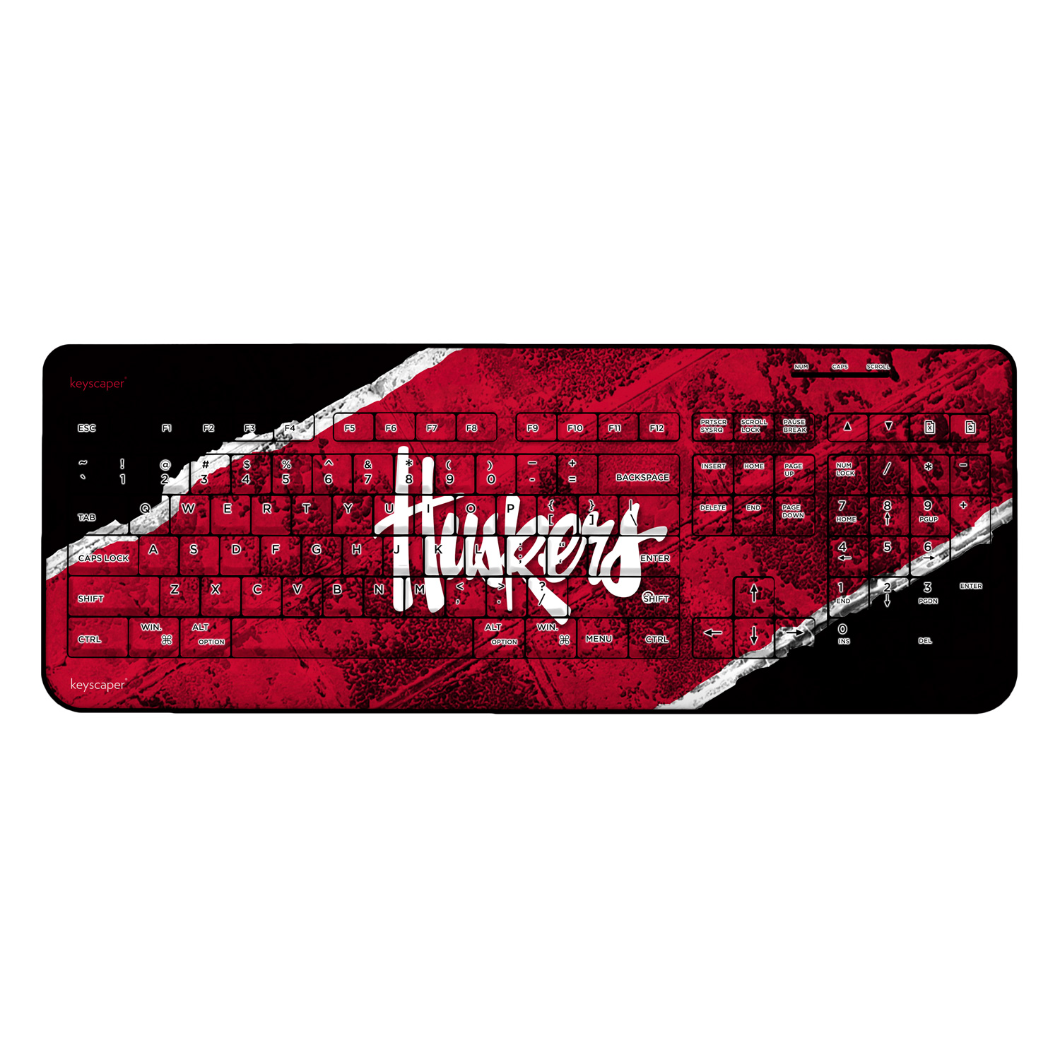 Nebraska Cornhuskers Wireless USB Keyboard NCAA