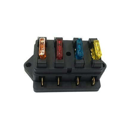 4 Way Fuse Holder Box Car Vehicle Automotive Circuit Blade Fuse Block  Way Fuse Box on
