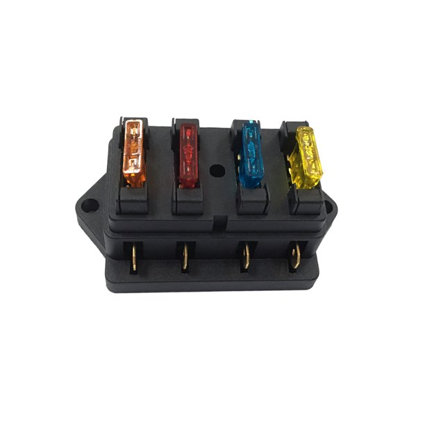 4 Way Fuse Holder Box Car Vehicle Automotive Circuit Blade Fuse Block with  4 Standard Fuses - Walmart.com - Walmart.comWalmart