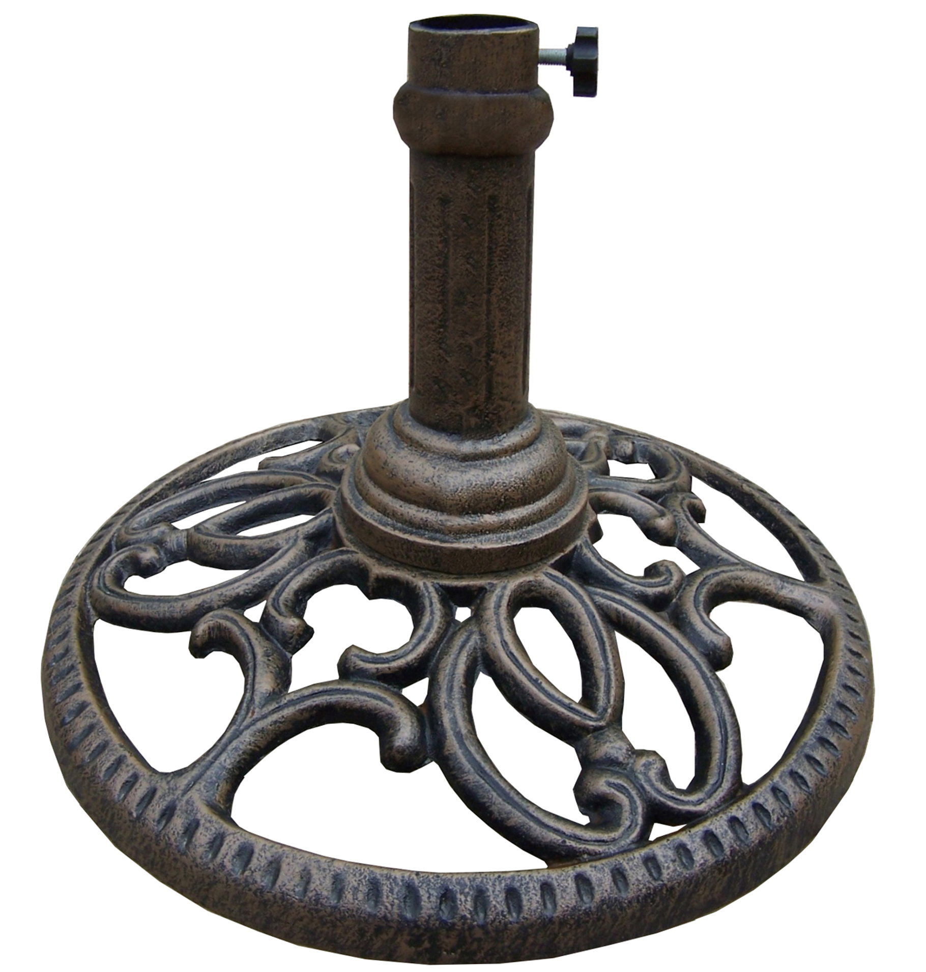 Crafted from metal with a rustic finish Umbrella Stand Antiqued Finish