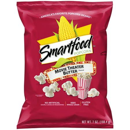 Smartfood  Popcorn Movie Theater Butter Flavored Popcorn  7 0 Oz  Bag