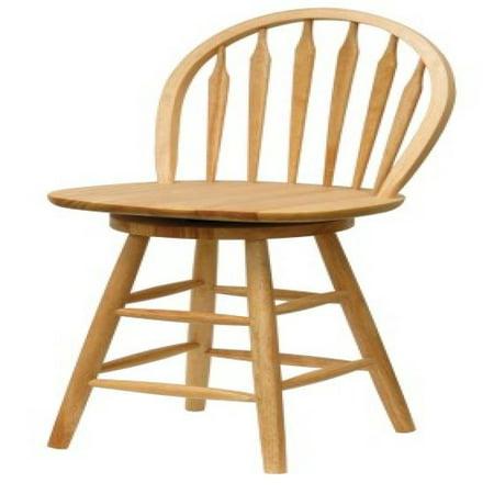 Winsome Wood 24 Inch Windsor Swivel Seat Bar Stool