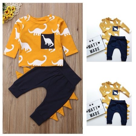 72c50e1d9783 Emmababy - 2PCS Kids Toddler Baby Boys T-shirt Tops+Pants Leggings ...