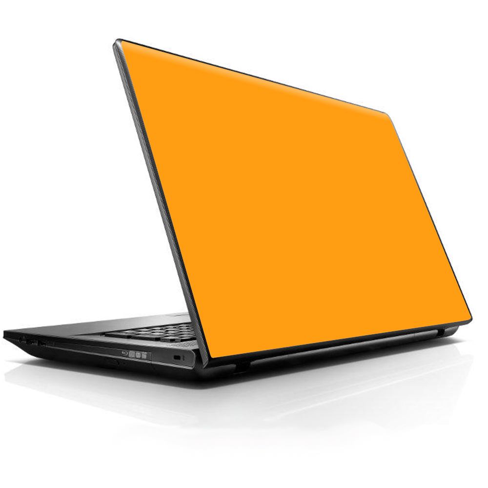 """Laptop Notebook Universal Skin Decal Fits 13.3"""" To 16"""" / Solid Orange"""