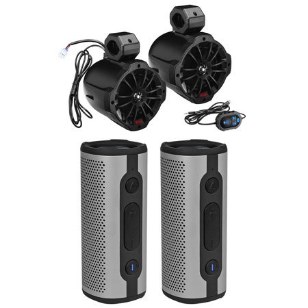 Boss B62ABT 6.5 Inch Tower Speakers w/Bluetooth For RZR/ATV/UTV+Free Speakers (15 Tower Speakers)