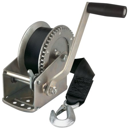 Reese Towpower 74329 1500 Lb Winch With 20' Strap And Hook