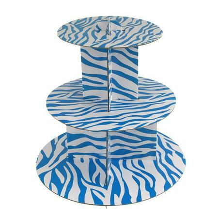 Spiral Zebra Cardboard Cupcakes Holder Stand, 12-Inch