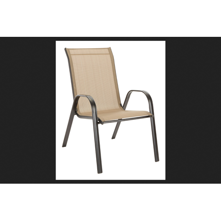 Living Accents Sling Stackable Chair Tan - Walmart.com on Living Accents Sling Folding Chaise id=80840