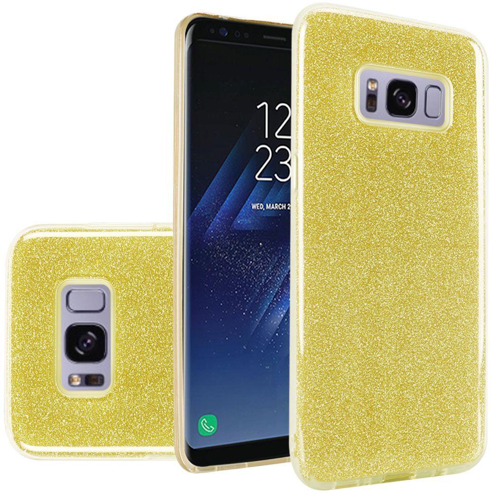 Samsung Galaxy S8 Case, by Insten Glitter Hard Plastic/Soft TPU Rubber Case Cover For Samsung Galaxy S8, Purple