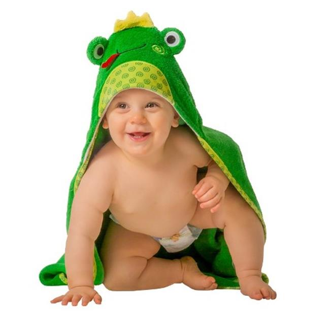 Zoocchini 11202 Flippy the frog Hooded Towel - 30 x 30 inch
