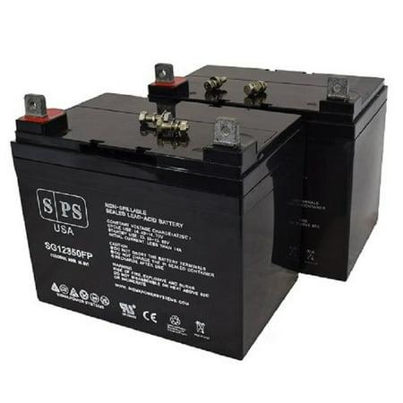 Price Shopper (SPS Brand 12V 35Ah Replacement battery for  Amigo Mobility Value Shopper Wheelchair (2 PACK))