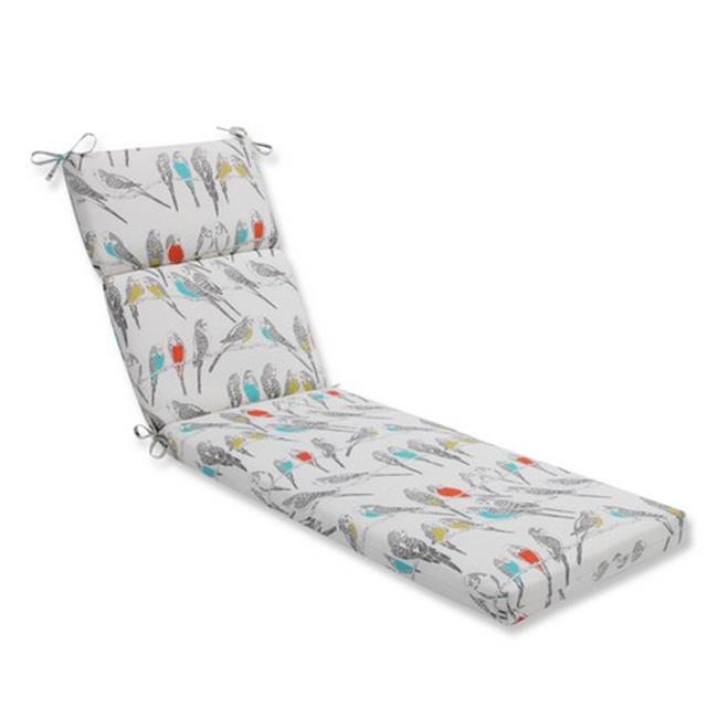 Indoor-Outdoor Retweet Mango Chaise Lounge Cushion, Off-White